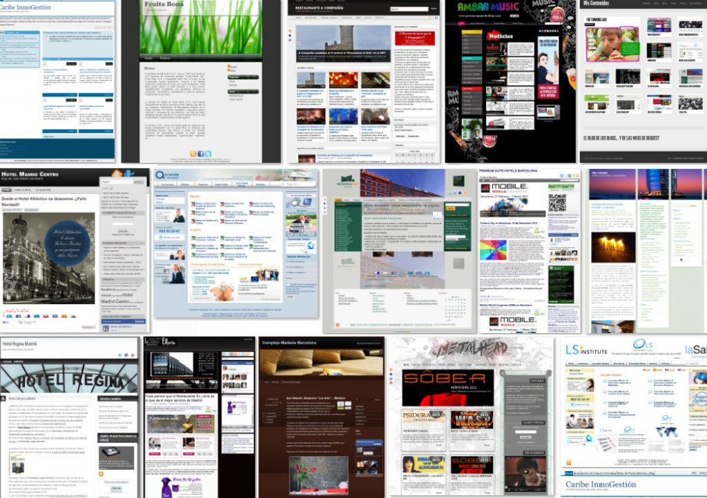 blogs, redes sociales, google